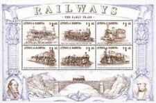 Timbres Trains Locomotives à vapeur Barbuda 1947G/M ** (1999) lot 24583 -cote:15