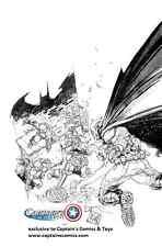Batman TMNT #1 Rocafort sketch variant exclusive captains comics ninja turtles