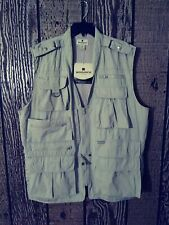 Woolrich Mens Guide Vest Khaki XL New With Tags Vented Outdoor Hunting Fishing