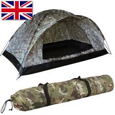 Camo Ranger 2 Man Bivvy Tent Carp Fishing Lightweight Shelter Groundsheet + Pegs