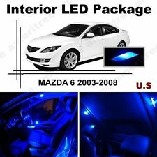 Blue LED Lights Interior Package Kit for Mazda 6 2003-2008 ( 9 Pieces )