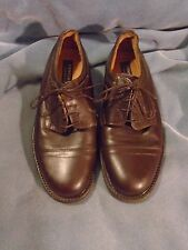 Men's Venturini Brown Leather Dress Oxfords Size 9 M