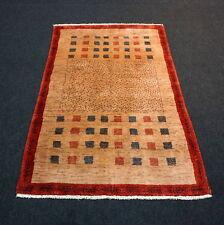 Designer Orient Teppich 160 x 108 cm Perser Gabbeh Braun Rot Modern Carpet Rug