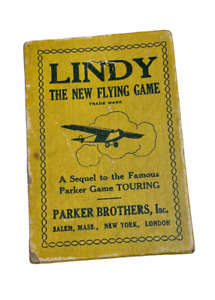 Vintage 1927 Parker Bros LINDY The New Flying Game Cards & Instructions Complete