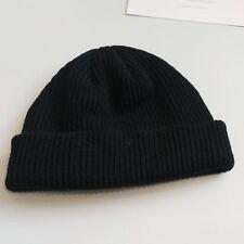 Unisex Men Women Beanie Hat Warm Ribbed Winter Turn Ski Fisherman Docker Hat