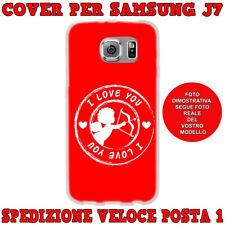 CUSTODIA COVER MORBIDA IN TPU PER SAMSUNG GALAXY J7 (J700) 2015 CUPIDO I LOVE