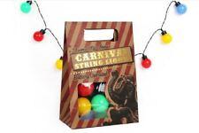 set of 10 colourful vintage retro style CARNIVAL decorative fairy lights LED
