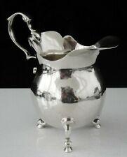 More details for antique sterling silver cream jug, london 1904, john hunt