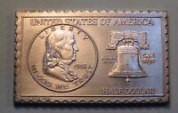 1948 United States Benjamin Franklin Half Dollar Numistamp Coin 1976 Mort Reed