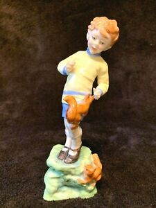 ROYAL WORCESTER OCTOBER BOY WITH SQUIRRELS