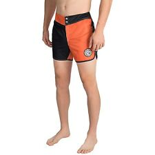 Men's Quiksilver Mylon Original Scallop Jester Board Shorts Mandarin Red Size 36