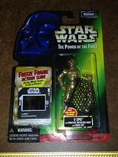 STAR Wars Potere della Forza 2 POTF 2 Freeze Frame C-3PO Pull-Apart FIGURE KENNER