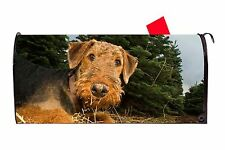 Airedale Terrier Dog Vinyl Magnetic Mailbox Cover Made in the Usa