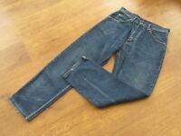 "Levi's 610, W31"", L29""  Straight-leg, Blue Denim Jeans, Rise 12"", Hem 15"" gc"