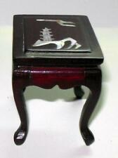 VINTAGE  ROSEWOOD LAMP TABLE WITH  MOTHER OF PEARL INLAID DOLLHOUSE FURNITURE