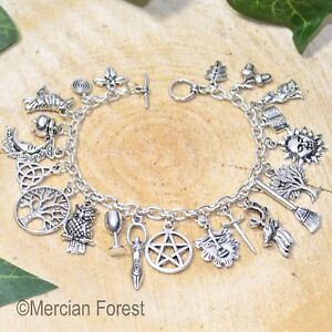 Pagan Ways Charm Bracelet - Pagan Jewellery, Wicca, Witch, Goddess, Pentacle
