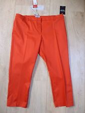 BNWT Pure Collection tomato red cotton sateen capri  trouser size 8