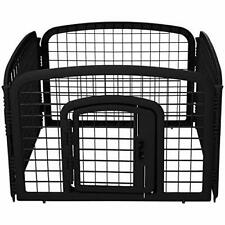 AmazonBasics 4-Panel Plastic Pet Pen Fence Enclosure With Gate 24-Inch, black