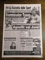 LA GAZZETTA DELLO SPORT N.66 DEL 18 MARZO 1996 - STERMINATOR TYSON (GS7)