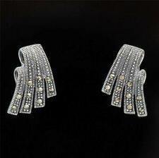 ART DECO STYLE STERLING SILVER MARCASITE EARRINGS