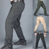 Mens Casual Pants Twill Joggers Hip  Elastic Jogger Slim Fit Stretch Trousers
