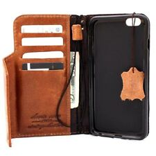 retro leather Case for apple iphone 6s plus book wallet cover s 6 with bracket