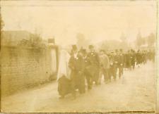 France, Vosges, Procession d'un mariage ca.1899 vintage citrate print Vinta