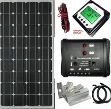 2x 100W 200W solar panel kit with Dual controller LCD remote display