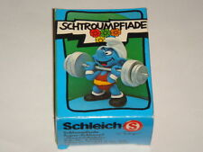 PEYO Figurine SCHTROUMPF: SCHTROUMPF GEWICHTHEBER ref 40507 NEUF BOITE