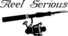 REEL SERIOUS Spinning Salt water fishing trip lure Car or Boat Decal /Sticker