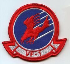 F14 TOMCAT TOP GUN FIGHTER SQN burdock-vêlkrö Shoulder Insignia: VF-1 Wolfpack