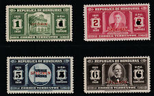Honduras (284) 1935 Postage set of 4 opt'd  SPECIMEN ex ABNCo Archives
