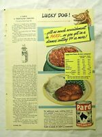 1949 Magazine Advertisement Page Pard Swift's Canned Dog Food Vintage Ad