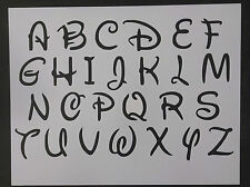 "Disney Alphabet Letters 1.4"" Font 11"" x 8.5"" Custom Stencil FAST FREE SHIPPING"