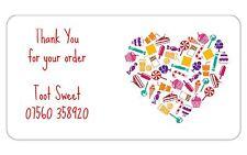 24 personnalisé stickers fait main par Thank You pour votre ORDRE confiserie