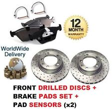 FOR PORSCHE BOXSTER 2.5 1996-1999 FRONT DRILLED BRAKE DISC AND PADS KIT+ SENSORS