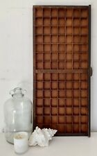 Vintage Letterpress Wooden Printers Tray With 98 Squares In Good Condition