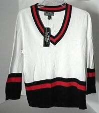 L-RL Lauren Active Ralph Lauren V-Neck Sweater w/3/4 sleeves Sz XL Ret $98 NWT