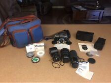Minolta XD11 35mm Camera Complete with Multiple Lenses, Flash, Filters, bag etc.
