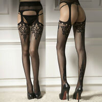 Women's Sexy Lace Sheer Over-Knee Thigh Stockings High Socks Pantyhose Tights AU