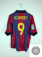 Barcelona KLUIVERT #9 00/01 Home Football Shirt (M) Soccer Jersey Nike