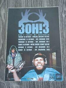 3OH!3 AUSTRALIA Tour - Laminated Promo Tour Poster