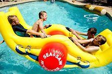 Inflatable Water Swimming Pool Backyard Garden Sea-Saw Rocker Float Toys Kids