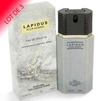TED LAPIDUS pour Homme de TED LAPIDUS EDT 100 ml LOT DE 3   +1 Échantillon
