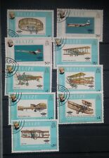 J535. TIMBRES OBLITÉRÉS DIVERS PAYS. THÈME aviation + ballons 4 pages