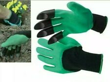 GARDEN DIGGING GLOVES FOR DIGGING & PLANTING ABS PLASTIC CLAWS GARDENING