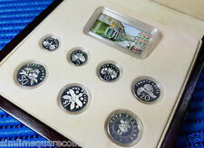 2002 Singapore Sterling Silver Proof Coin Set (1¢ - $5 Coin) with Box and COA
