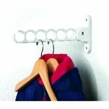 Hook Hanger Holder  White Wall Rack Clothing Laundry Garment Storage Clothes New