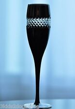 1 Waterford John Rocha Black Cased cut to clear Wine Champagne Flute Goblet New