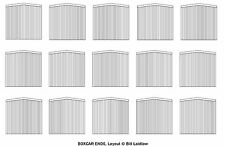 15 wood-era printed boxcar ends for 7 cars HOn3 / HOn30 scale White